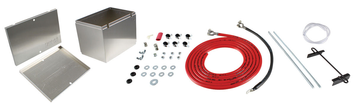 Battery Box, Aluminum, Taylor, w/ HD Cable