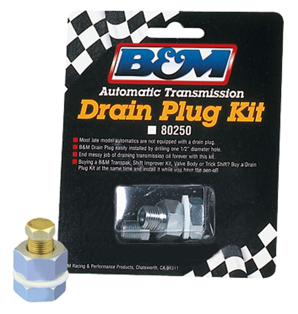 Drain Plug Kit, B&M, Automatic Transmission