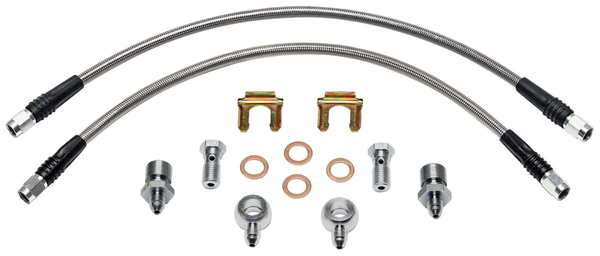 Brake Hose Kit, 1964-72 A-Body, Stainless Steel w/D-52 Calipers
