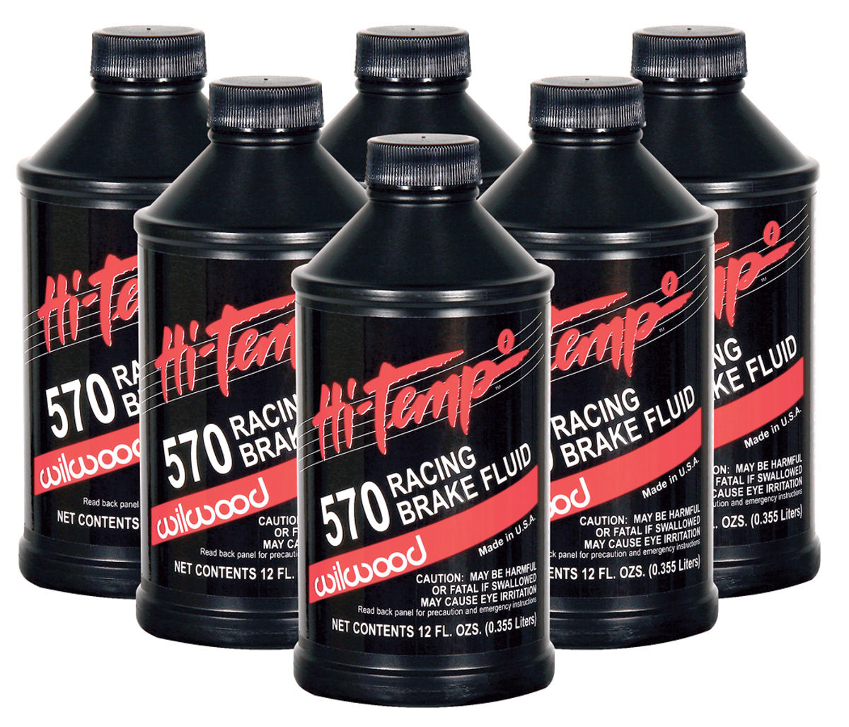 Brake Fluid, Wilwood, 570 Hi-Temp, 6-pack