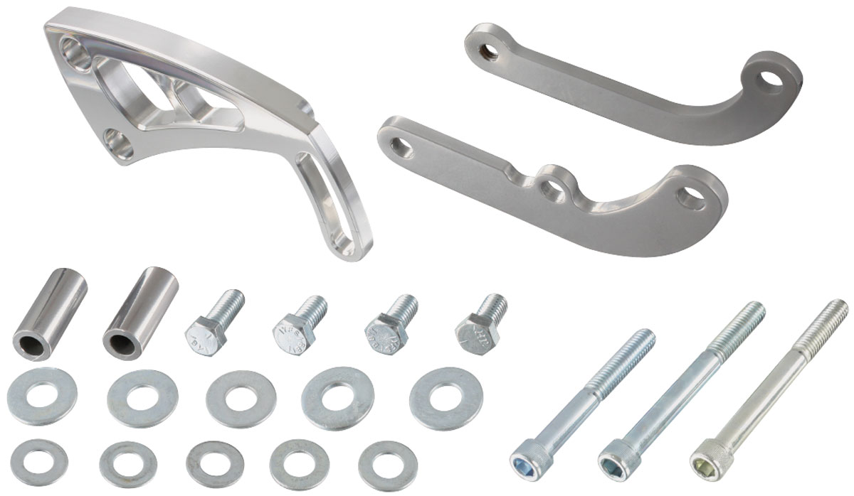 Brackets, Power Steering, Mid-Mount, March, 1969-77 BB Chevy