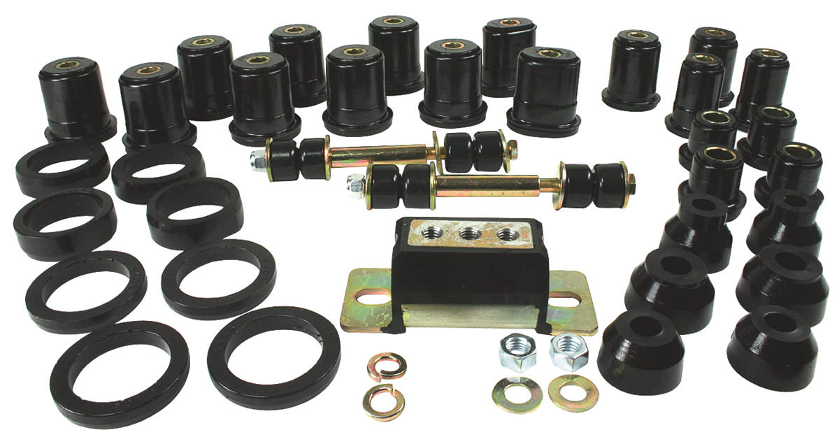 Bushing Kit, Total, 1968-72 CH/EC/MC, Polyurethane, Oval Lower Rear