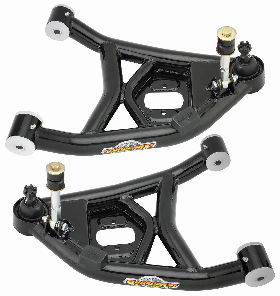 Control Arms, Front Lower, 1964-72 A-Body, Global West, w/ Del-A-Lum Bushings