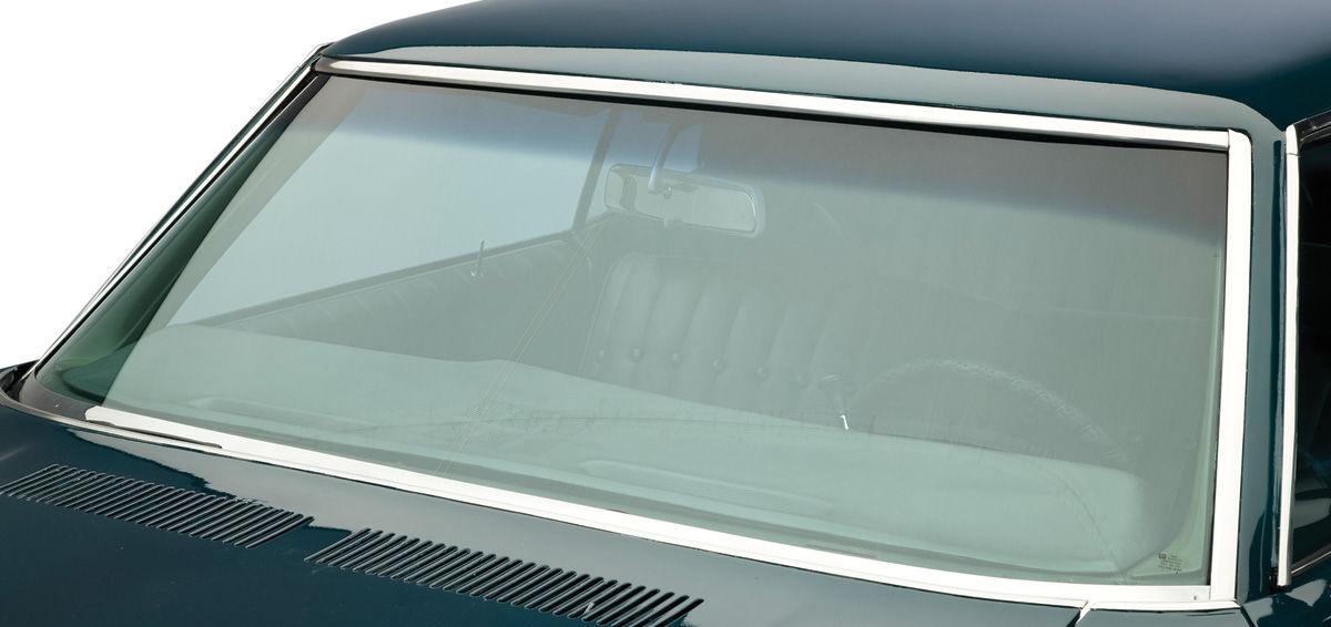 Windshield, 1968-72 A-Body Coupe/Sedan, w/ Antenna, Green Tint