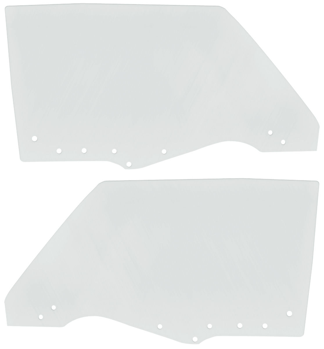 Door Glass, 1970-72 Chevelle/BOP Coupe Convertible, Clear, Pair