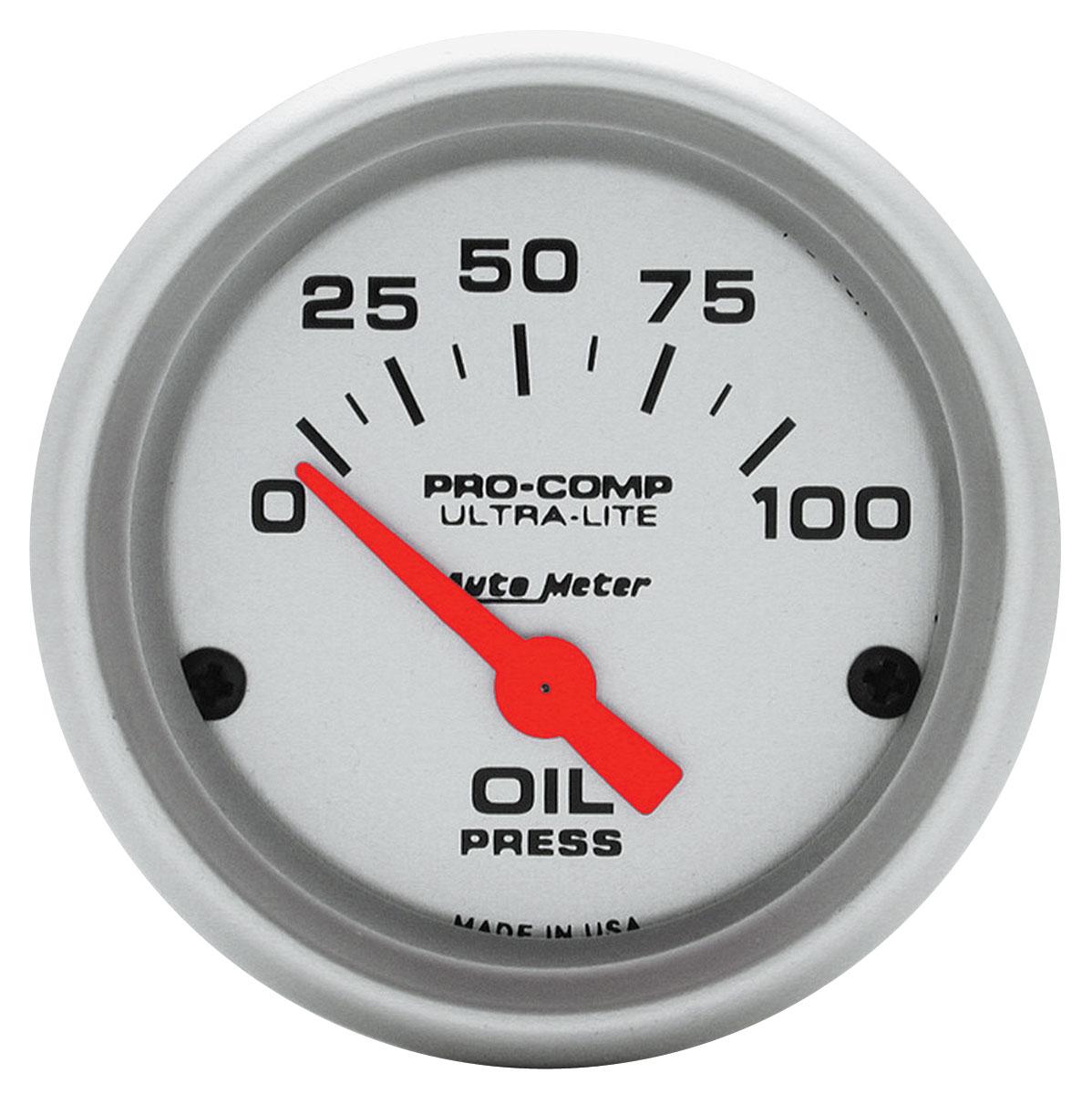 Gauge, Oil Pressure, Auto Meter, Ultra Lite, 2