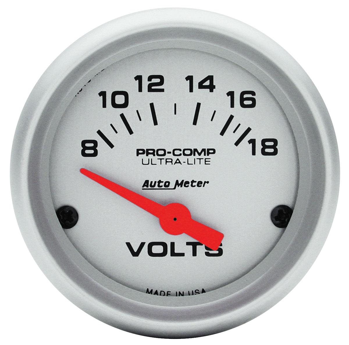 Gauge, Voltmeter, Auto Meter, Ultra Lite, 2