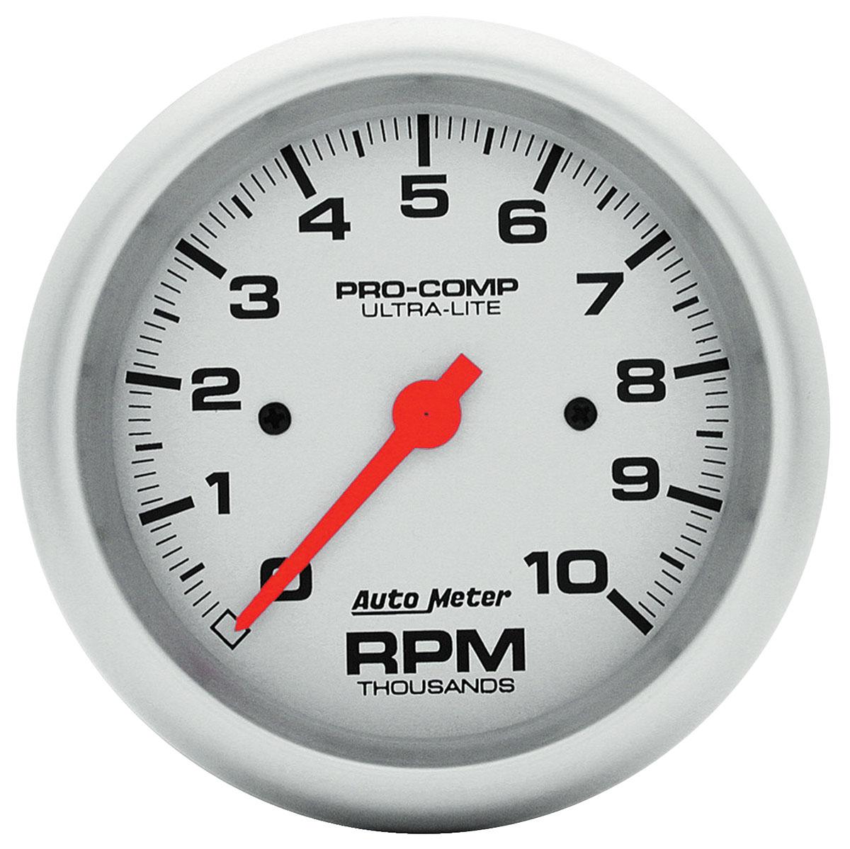Gauge, Tachometer, Auto Meter, Ultra Lite, 3-3/8
