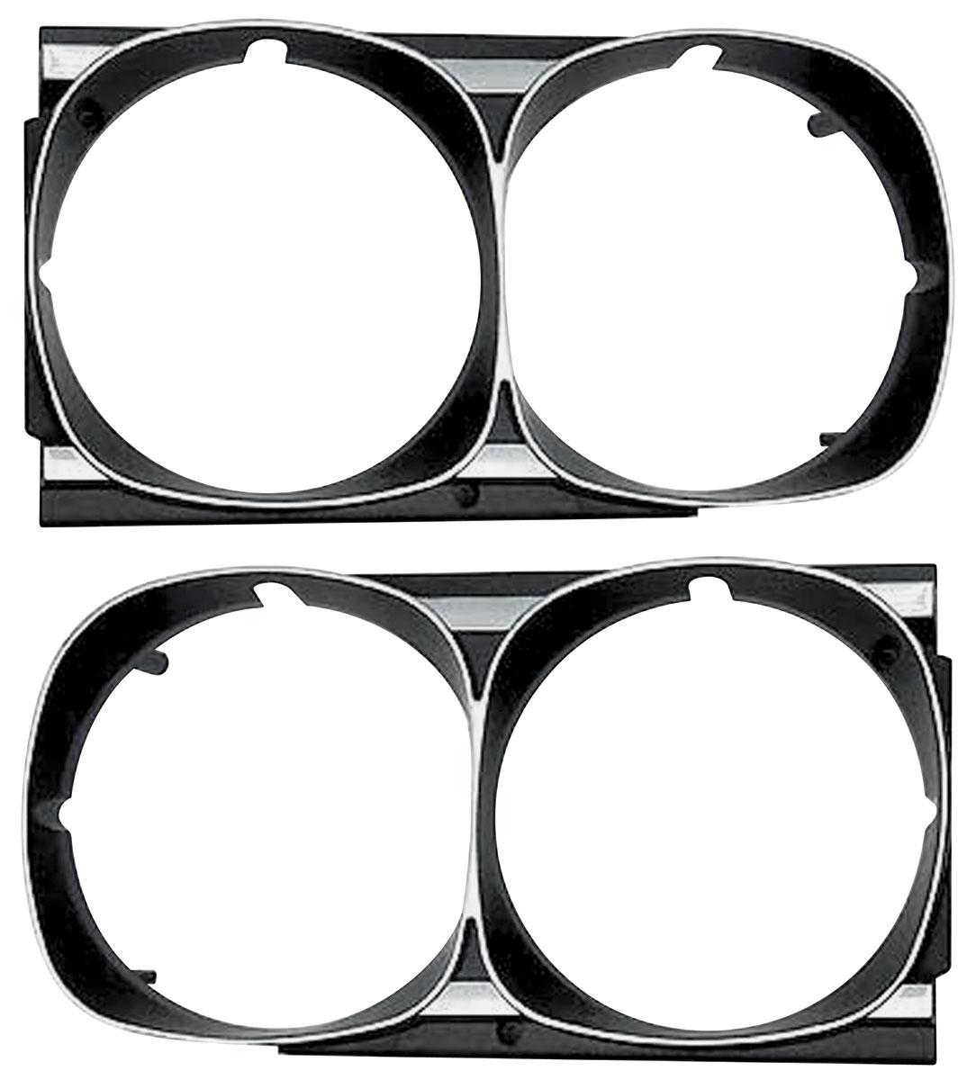 Bezels, Headlight, 1969 GTO/Tempest/LeMans, Non-Hideaway