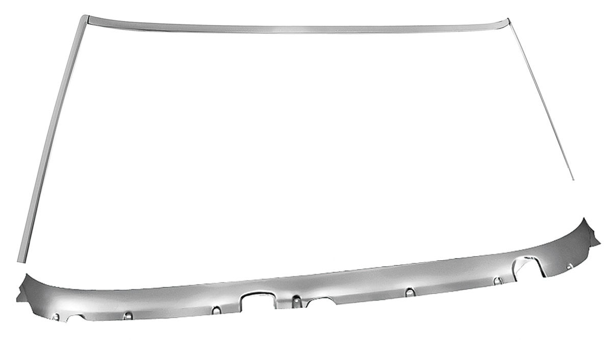 Molding Set, Front Window Reveal, 1968-72 A-Body Coupe, 4pc