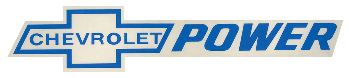 Decal, Chevrolet Power, 11 1/2 x 1 1/2,