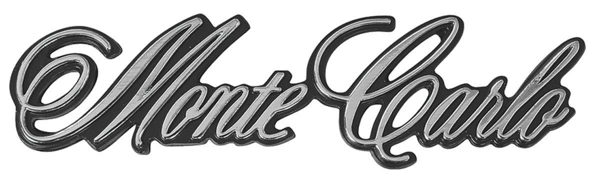 Emblem, Header Panel, 1973-75 Monte Carlo