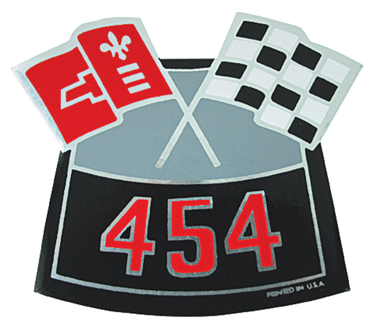 Decal, Chevelle/El Camino/Monte Carlo, Air Cleaner, 454 Crossed Flags