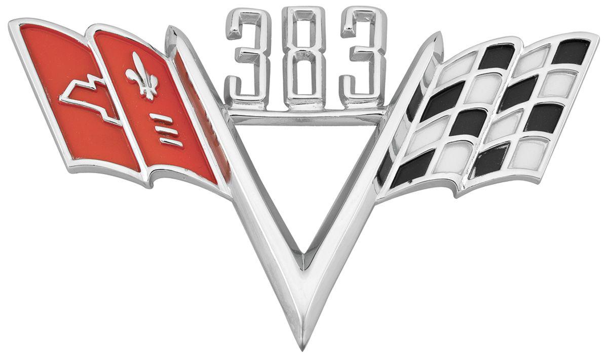 Emblem, Fender, 383 Custom V-Flag