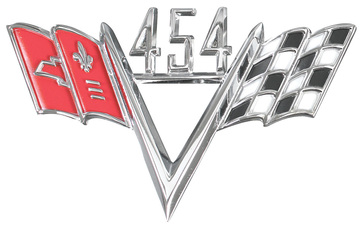 Emblem, Fender, 454 Custom V-Flag