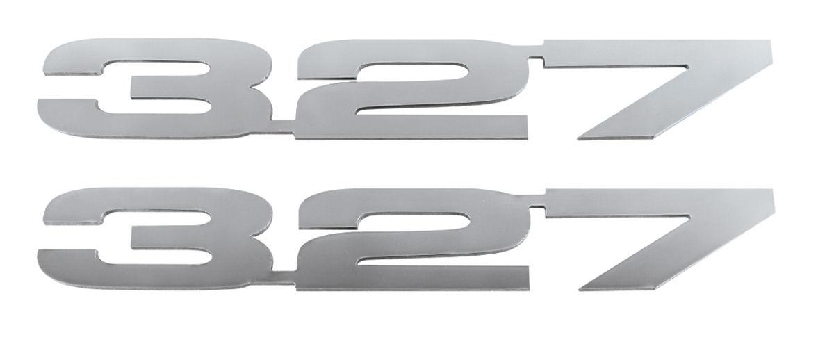 Emblem, 327, Polished Stainless