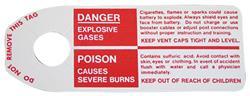Tag, 65-71 GM, Warning, Negative Post Battery