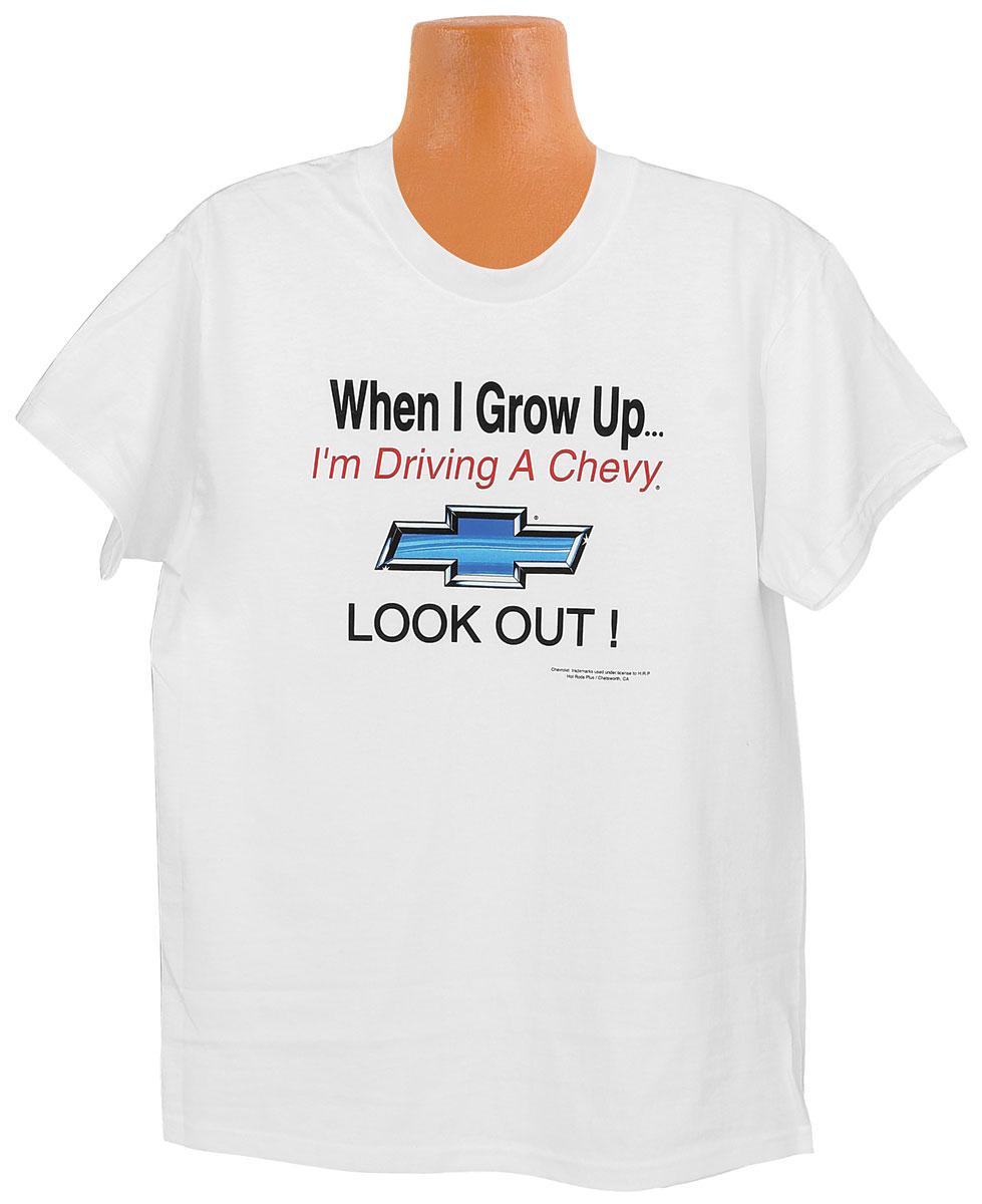 "Tee-Shirt, 6-8, ""When I Grow Up Chevrolet"""