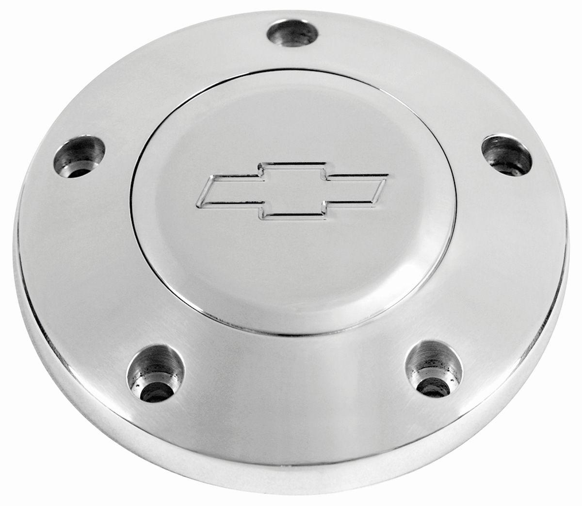 Billet Chevrolet Horn Button w/Engraved Bowtie