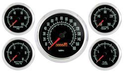 Gauge Kit, Marshall Instruments, Retro Muscle, 5 Piece w/ Speedometer