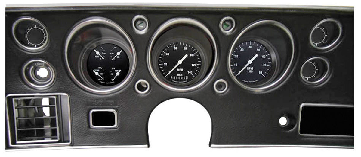 Gauge Conversion Kit, 1970-72 CH/EC/MC, Hot Rod