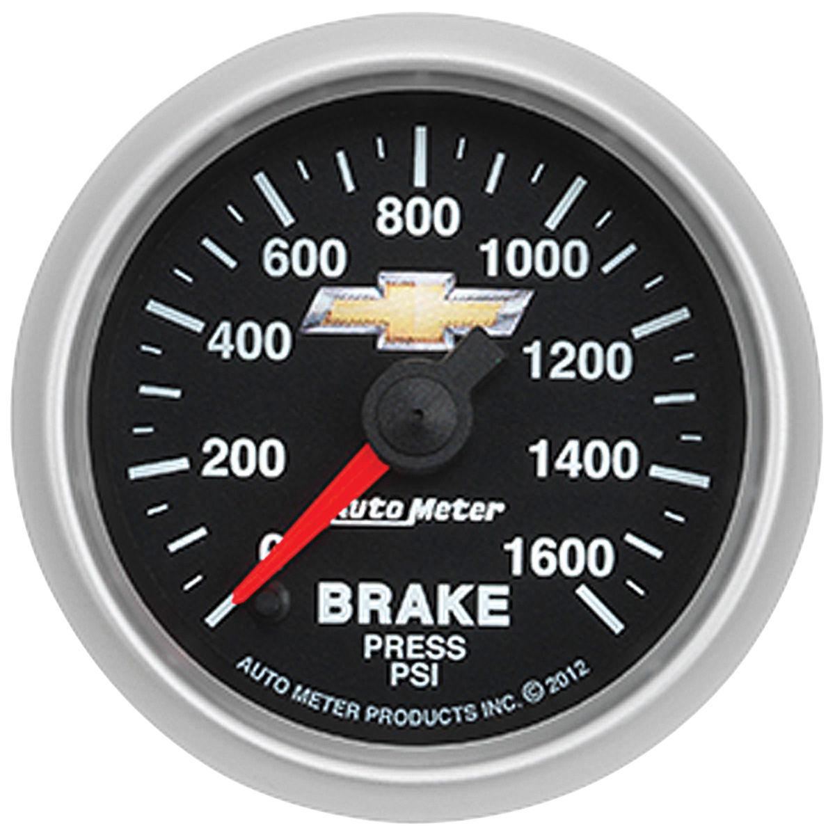 Gauge, Brake Pressure, Auto Meter, Bowtie, 2-1/16