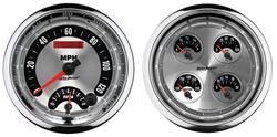 """Gauge Kit, Auto Meter, American Muscle, 5"""" Quad Gauge & Tach/Speedo Combo"""