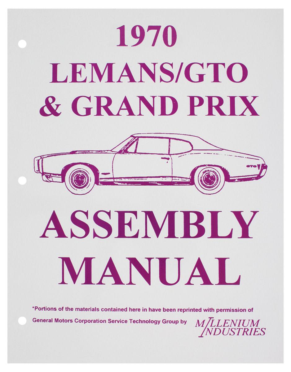 Assembly Manual, 1970 GTO/Grand Prix