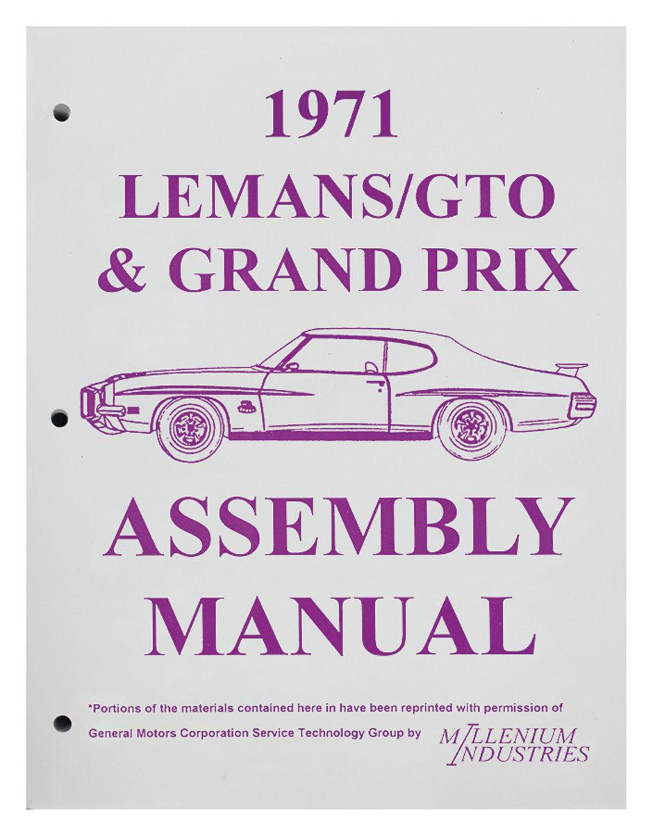Assembly Manual, 1971 GTO