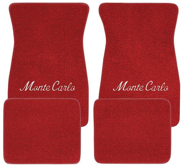 "Floor Mats, Raylon 1970-74 ""Monte Carlo"" Script Logo"