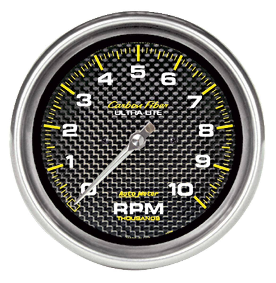 Gauge, Tachometer, Auto Meter, Carbon Fiber, 5