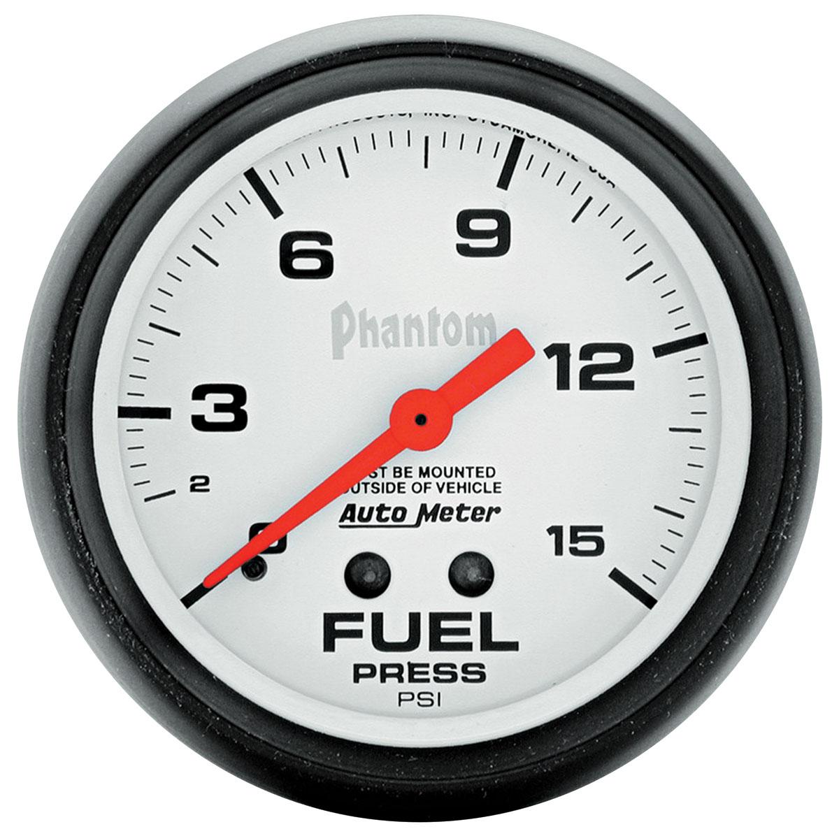 Gauge, Fuel Pressure, Auto Meter, Phantom, 2-5/8