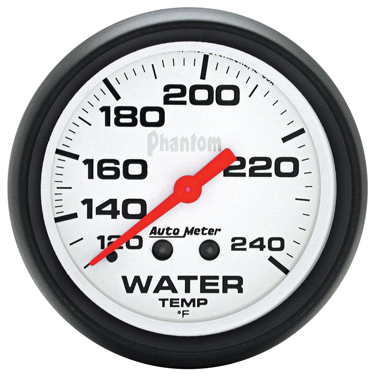 Gauge, Water Temperature, Auto Meter, Phantom, 2-5/8