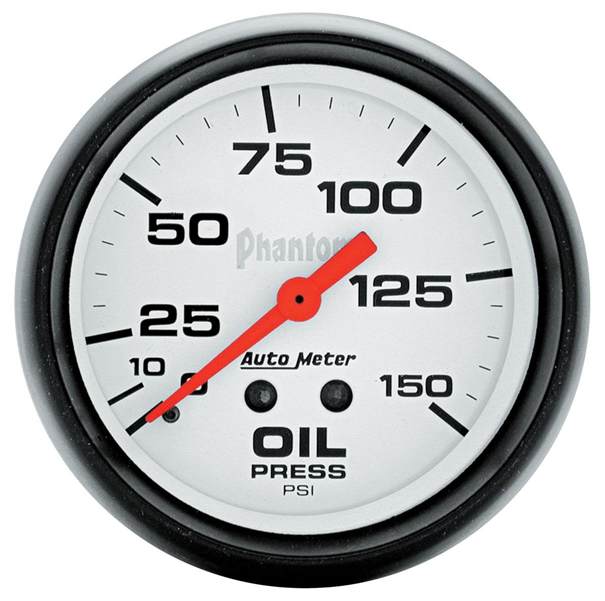 Gauge, Oil Pressure, Auto Meter, Phantom, 2-5/8