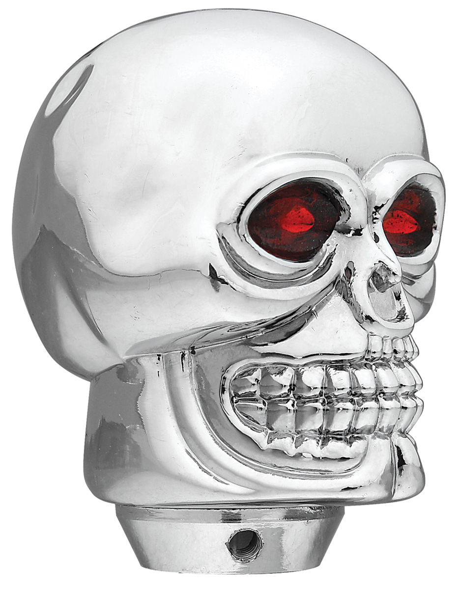 Knob, Gear Selector, Skull, Chrome