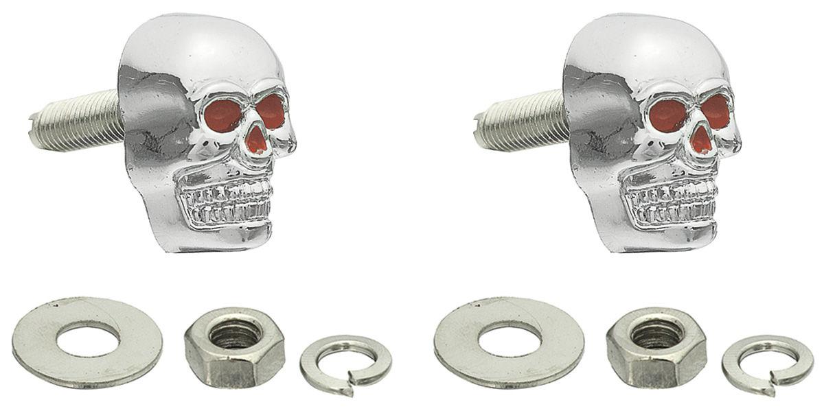 Fasteners, License Plate, Skull