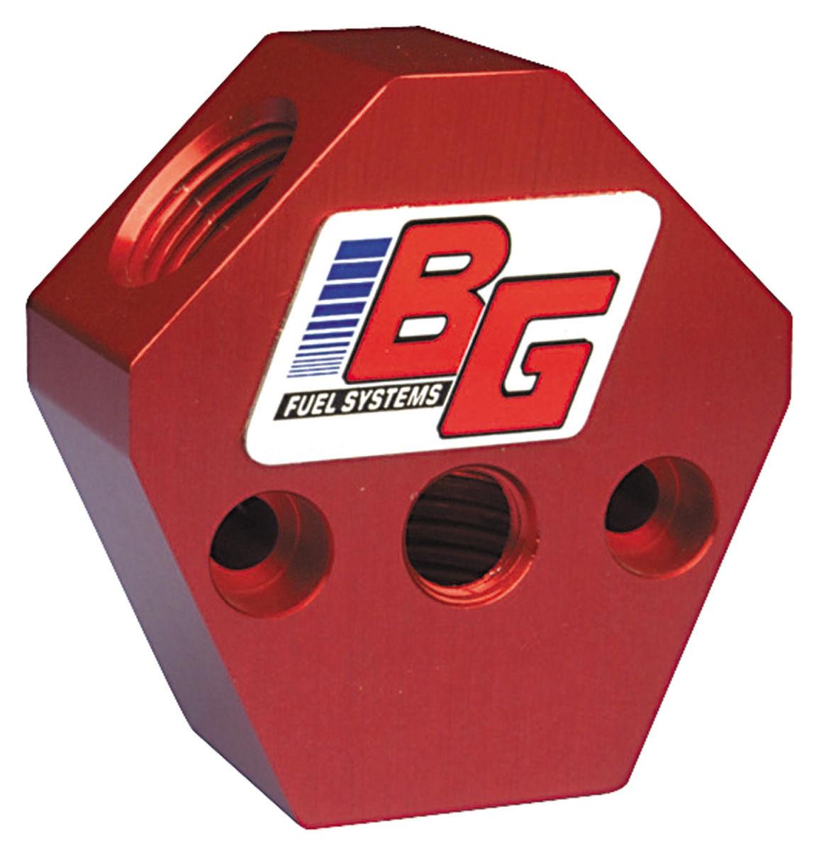 """BG 3/8"""" IN/OUT BILLET Y-BLOCK"""