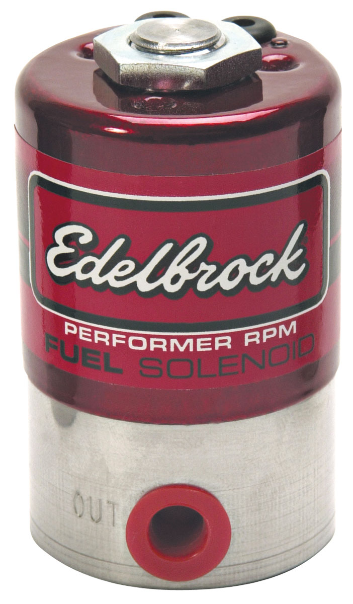 Solenoid, Fuel, Edelbrock, Performer RPM, Stainless