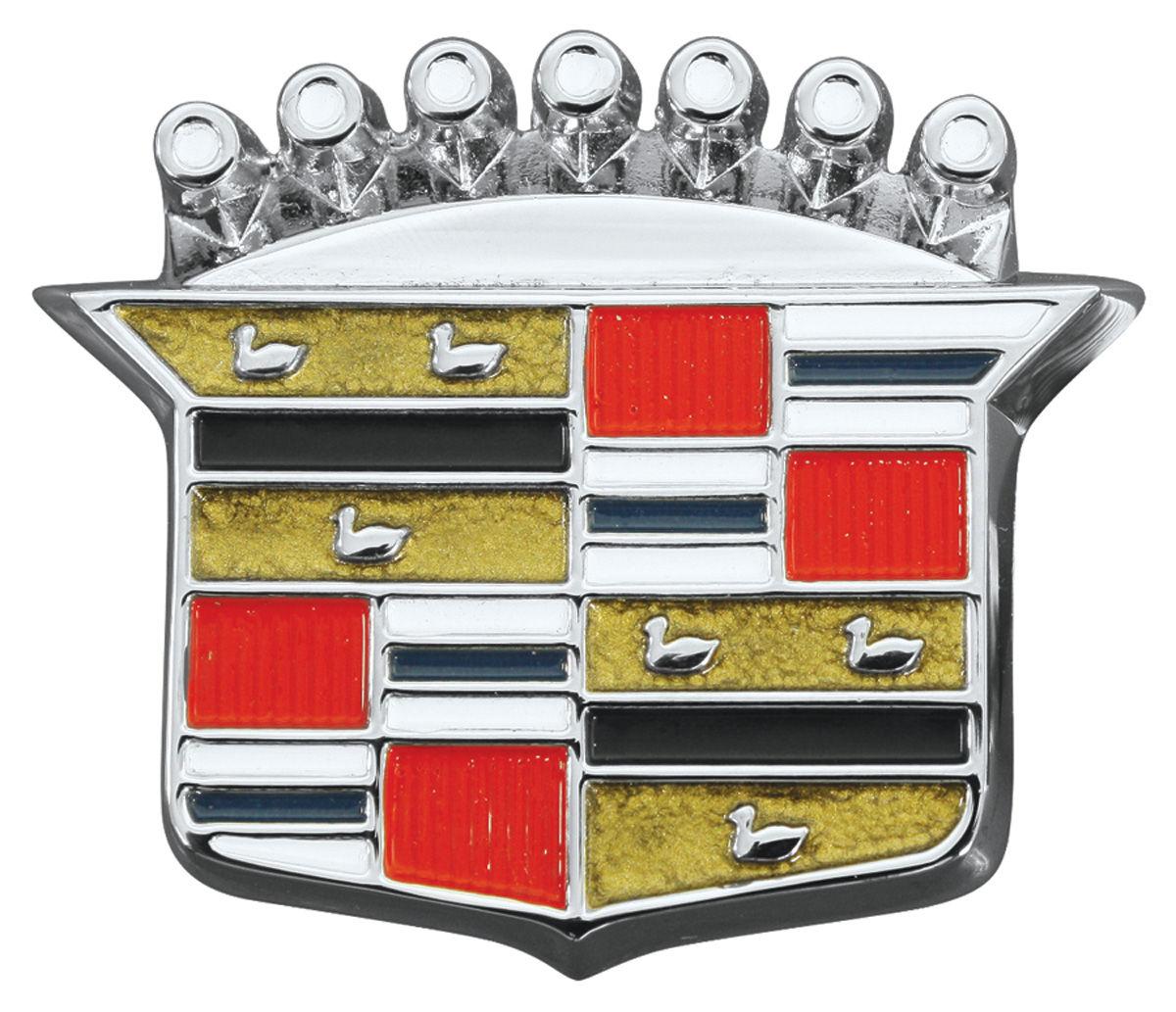 Emblem, Trunk Lock Crest, 1964-68 Cadillac