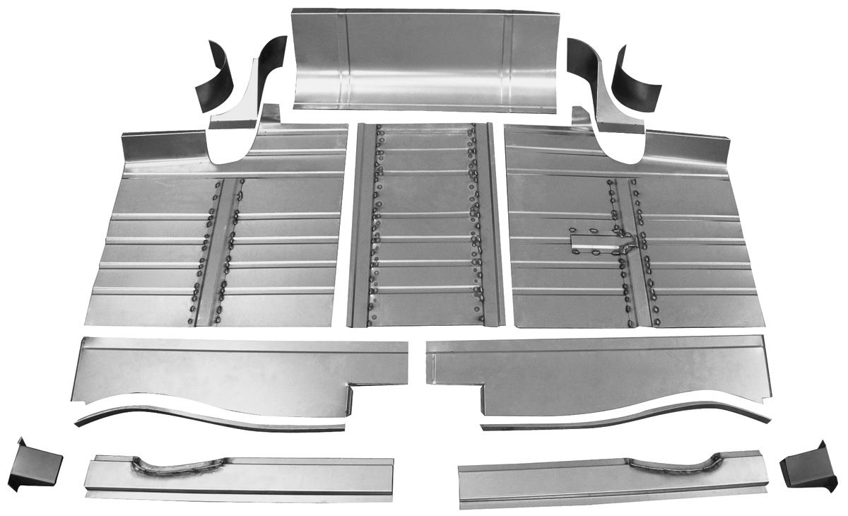 Trunk Floor, 1959-60 Cadillac 14pc Set with Braces
