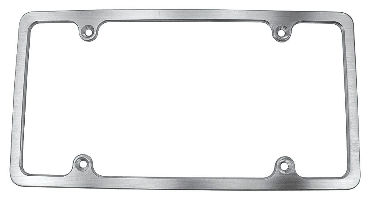 License Plate Frame, Brushed, Aluminum