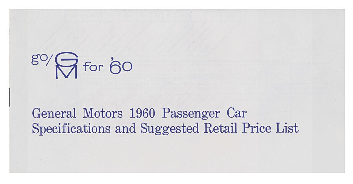 New Vehicle Price Book, 1960 Cadillac/Pontiac