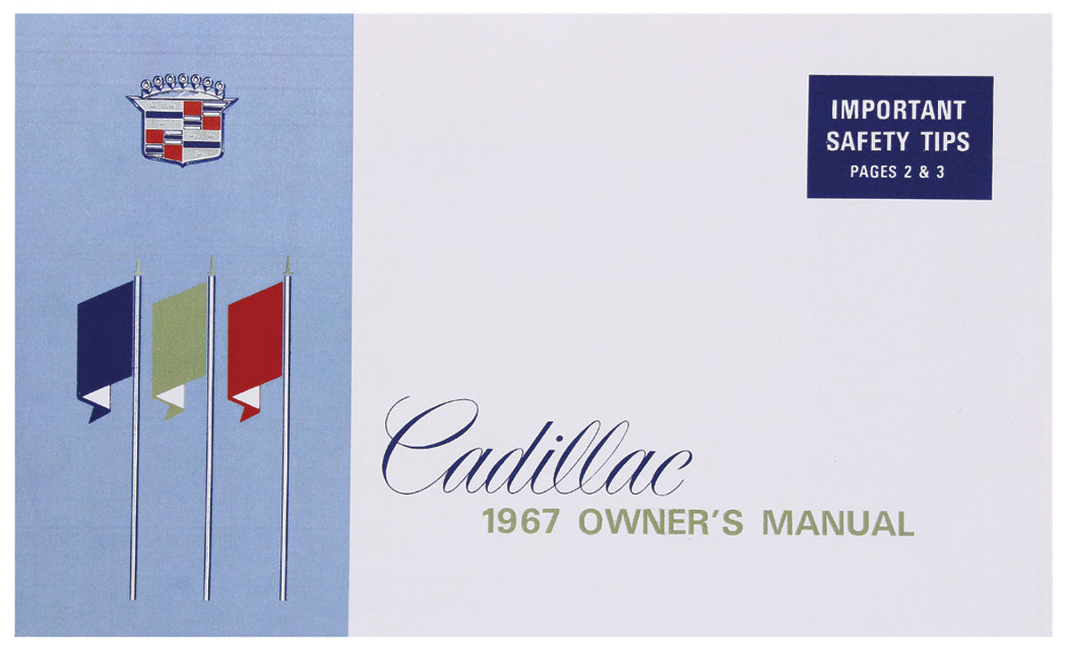Owners Manual, Authentic, 1967 Cadillac