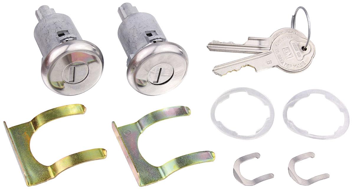 Lock Set, Doors, 1967-68 Cadillac/1961-64 Pontiac, Long Cylinder/Pearhead Key