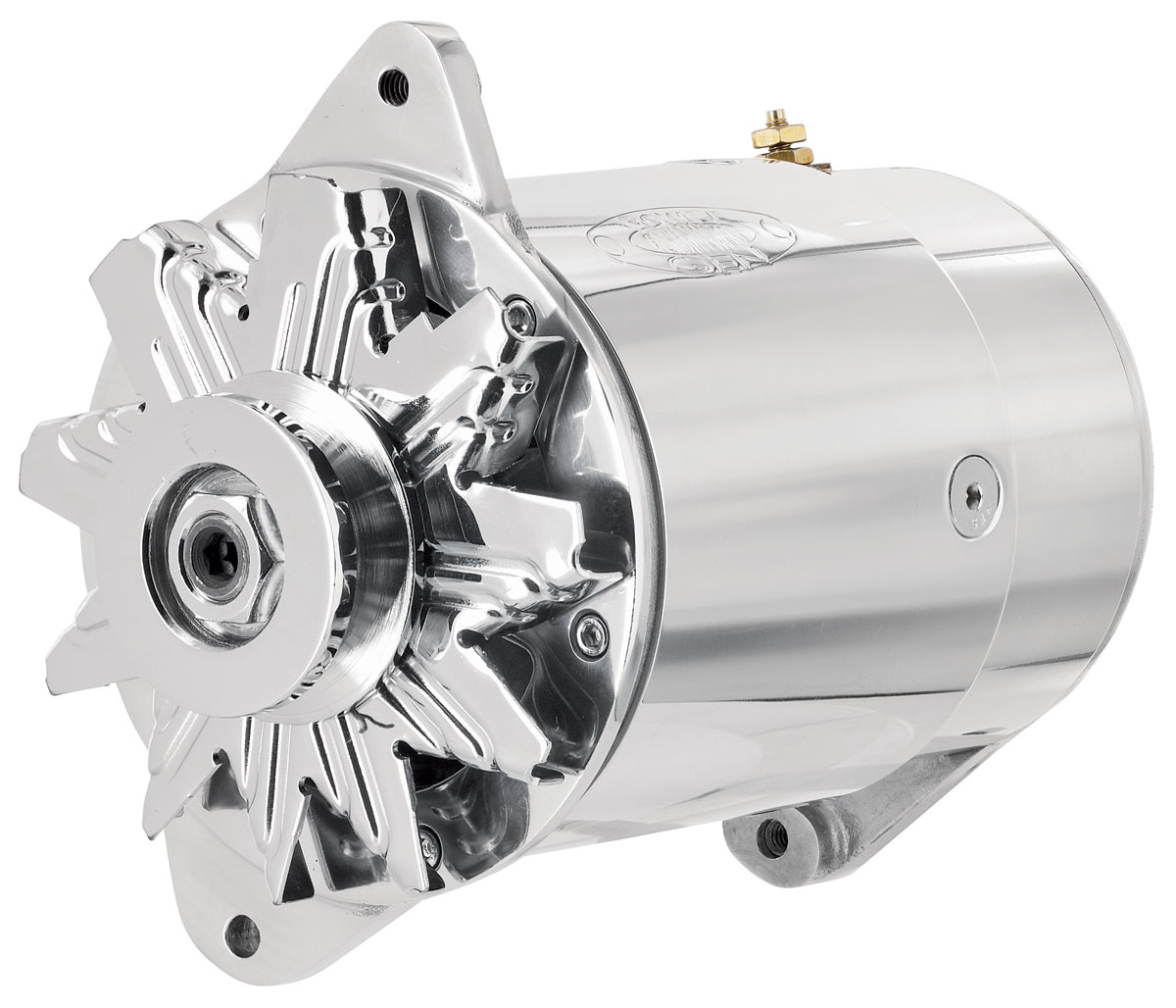 Alternator, PowerGen, 1954-62 GM Car, Polished, Short Housing, Standard