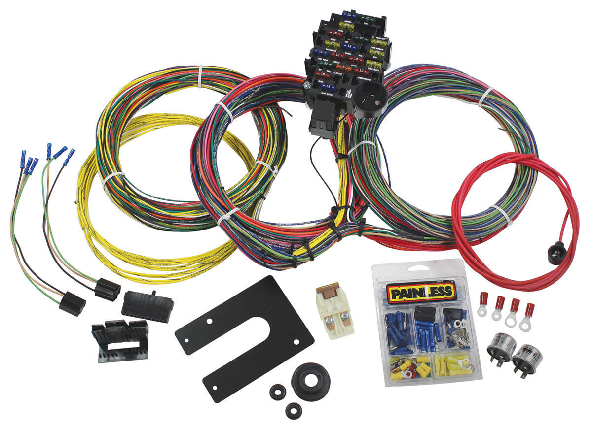 Wiring Harness, Painless Performance, 54-68 GM, 28-CIRCUIT on painless switch panel, painless fuse box, painless lt1 harness,