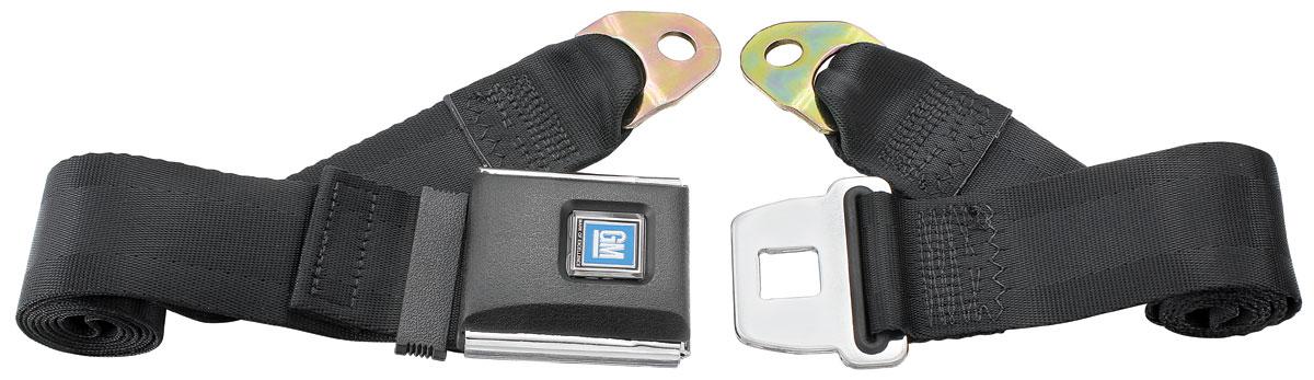 Seat Belts, Non-Retractable, GM Buckle, Plastic Top