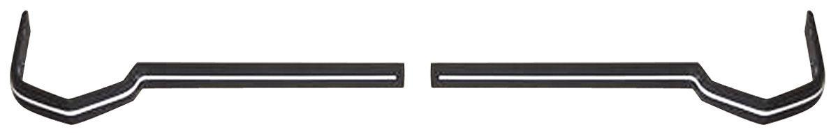 Bumper Impact Strips, Front, 1973 Eldorado, Ends