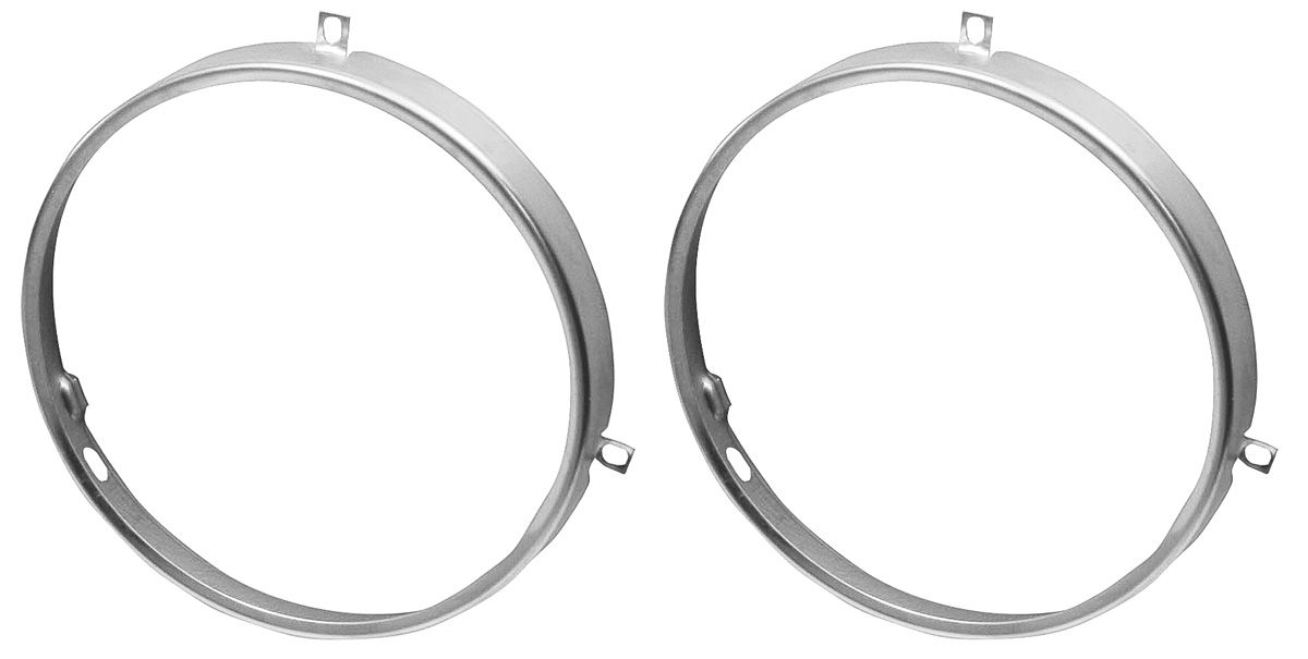 Retaining Ring, Headlight, 1964-70 CH/EC/1964-72 BOP/1958-74 Cad, Pair