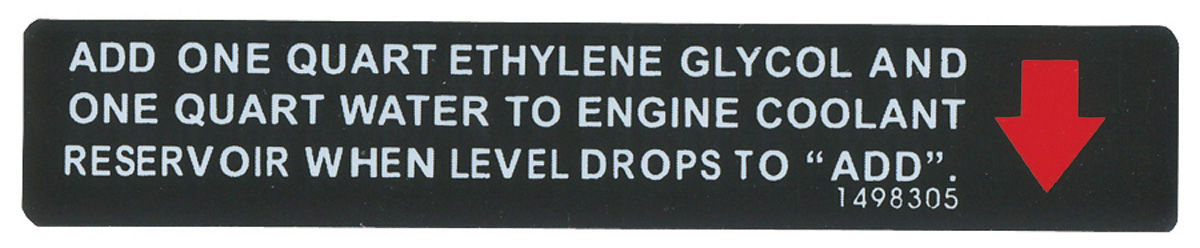 Decal, 71-76 Cadillac, Warning, Cooling System